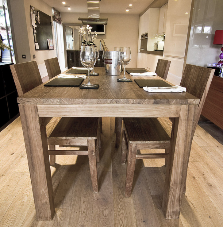 Nusa Reclaimed Wood Dining Table 200cm with 8 Wooden