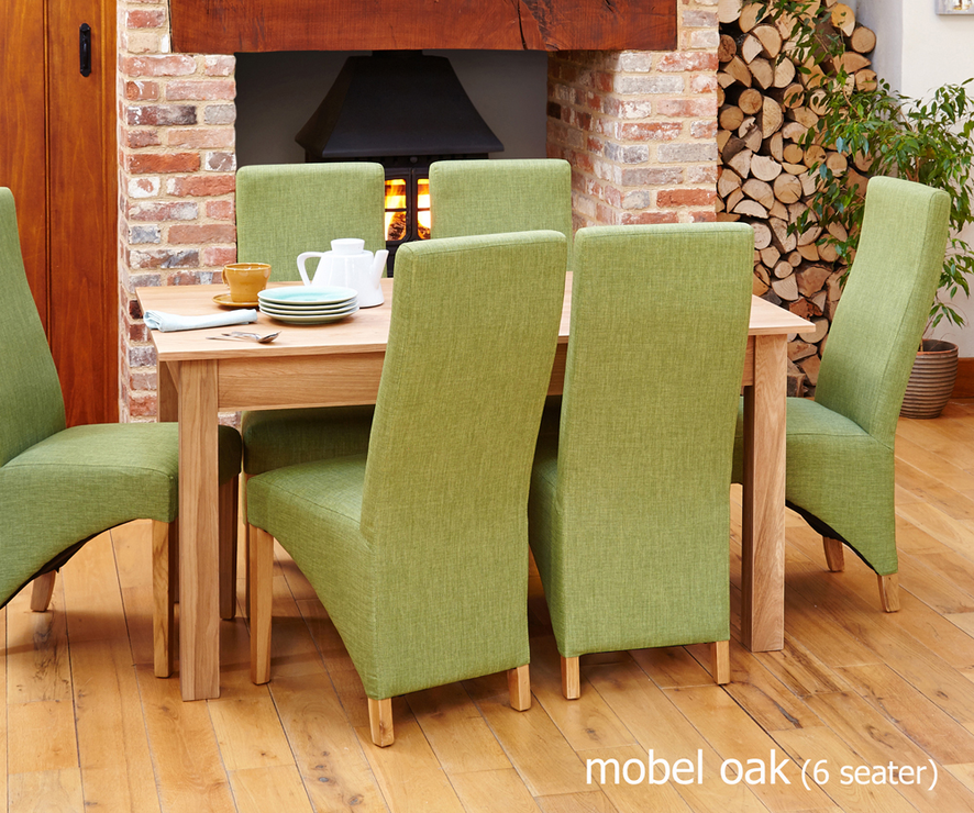 Mobel Solid Oak Modern Dining Table 150cm 4 6 Seater Dining Tables