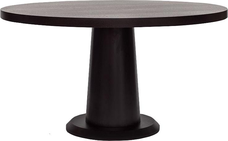 Ancora Dark Wenge Oak Round Dining, Round Dining Table Uk