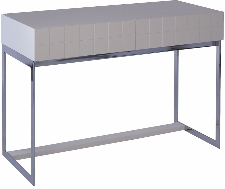 Barcelona modern dressing table grid texture matt white for Modern white lacquer console table
