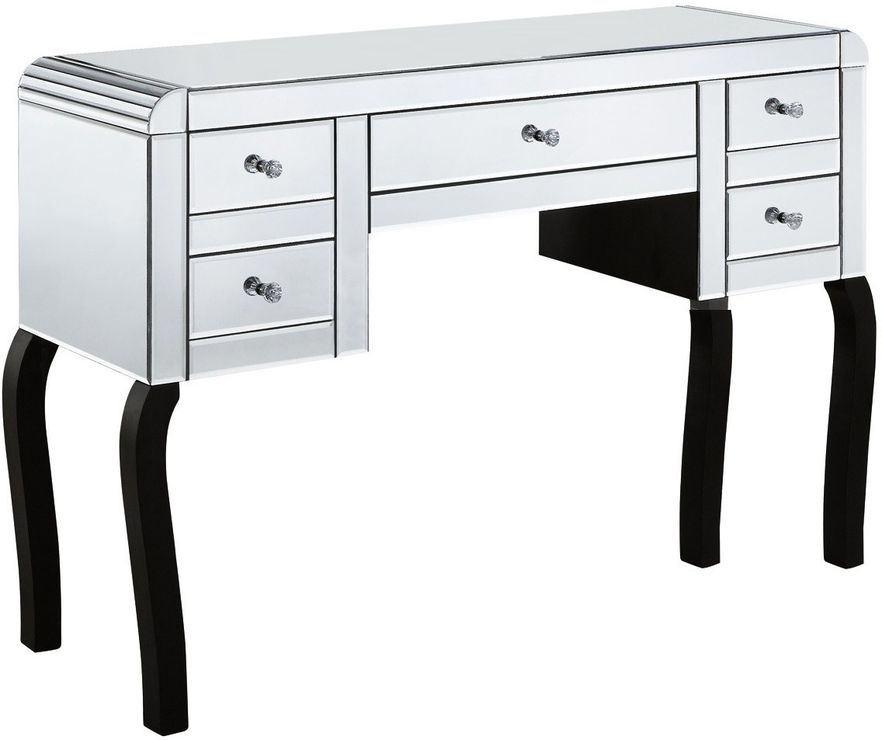 smoked mirrored furniture. Mirror Dressing Table 5 Drawer Art Deco - Smoked Or Clear Image 2 Mirrored Furniture