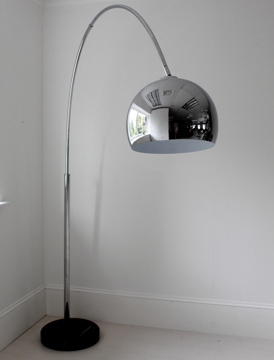 Large chrome arch floor lamp floor lamps for Large arc floor lamp uk