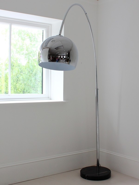 Large Chrome Arch Floor Lamp Image 5