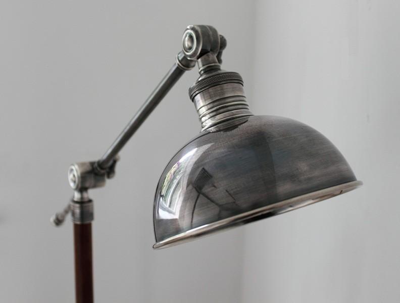 Metal floor lamp teak and steel floor lamps for Floor lamps uk
