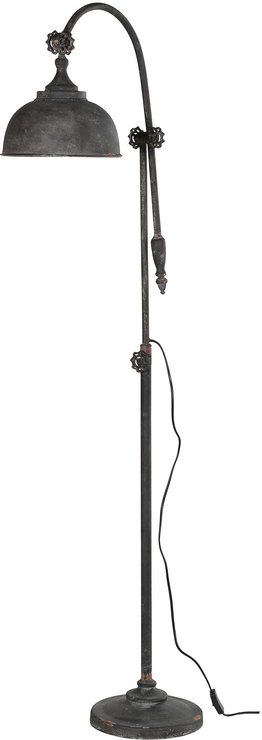 Industrial metal arch floor lamp distressed finish floor for Distressed metal floor lamp