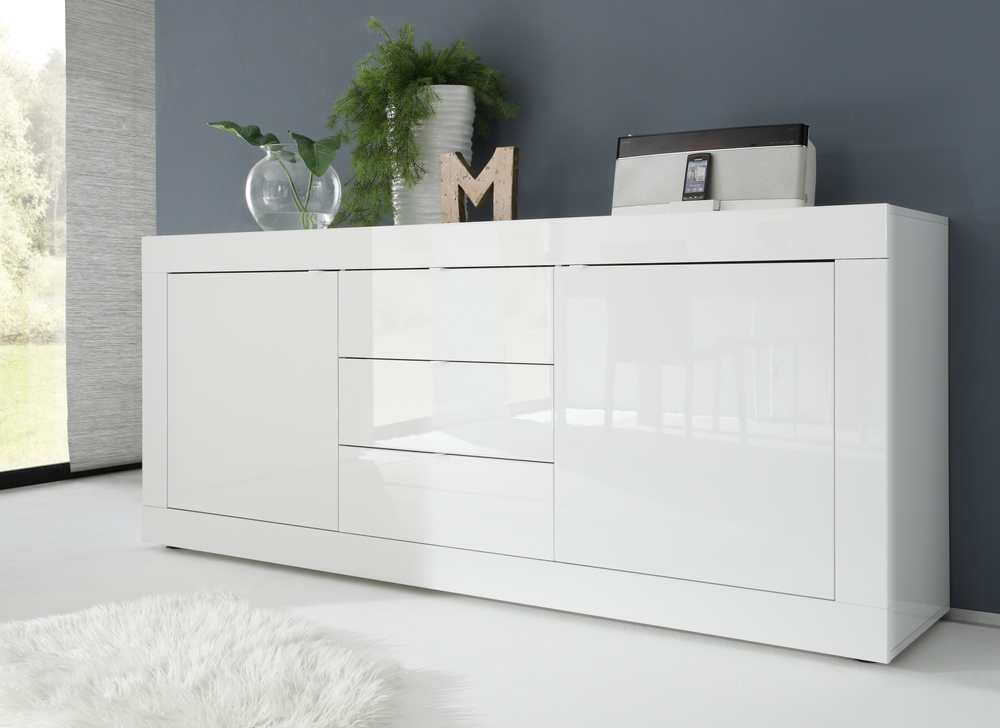 urbino collection sideboard two doors three drawers. Black Bedroom Furniture Sets. Home Design Ideas