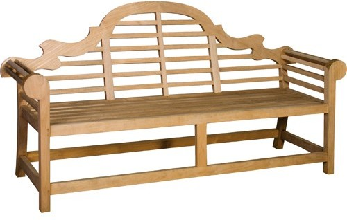 large or teak outdoor ft lutyens garden bench marlboro