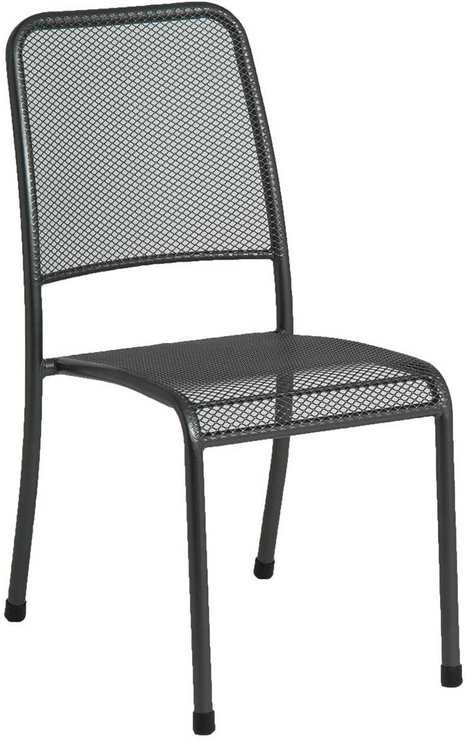 Portofino Metal Mesh Stacking Side Garden Chair Image 5