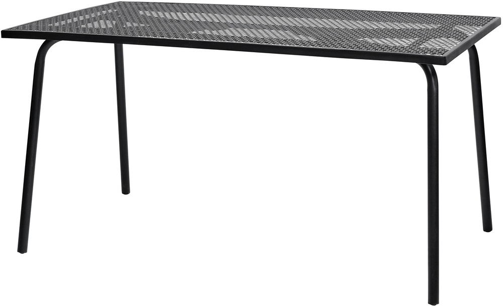 bb765bc0163f Rectangular Black Metal Garden Table by Nordal