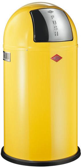 wesco pushboy bin lemon yellow kitchen bin