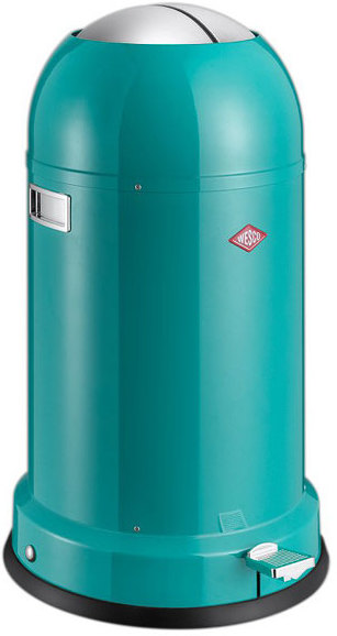 Wesco kickmaster classic line bin turquoise kitchen bins for Turquoise bathroom bin
