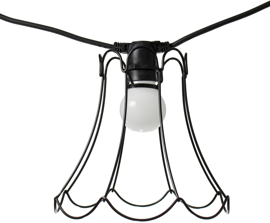 Seletti Wire Frame Tulip Lampshade - Black | Lamp shades