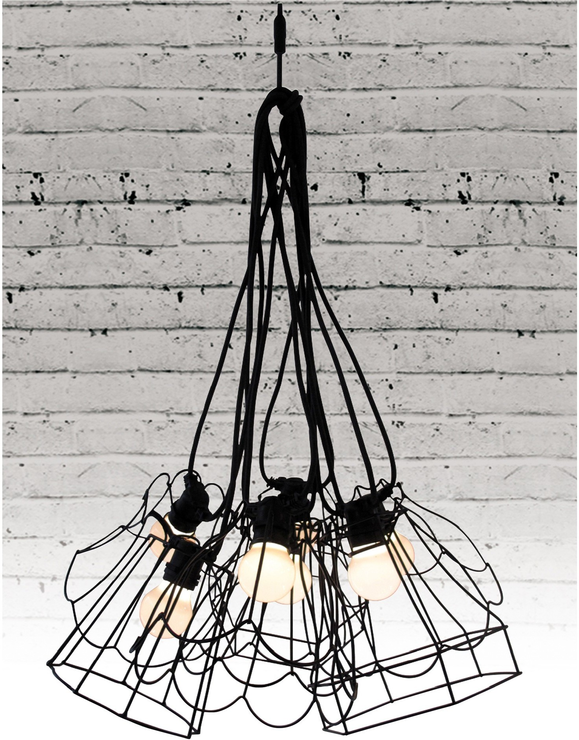 Seletti wire frame tulip lampshade black lamp shades seletti wire frame tulip lampshade black image 5 greentooth Gallery