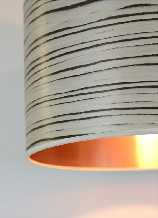 White Stripe Drum Shade Lamp Shades