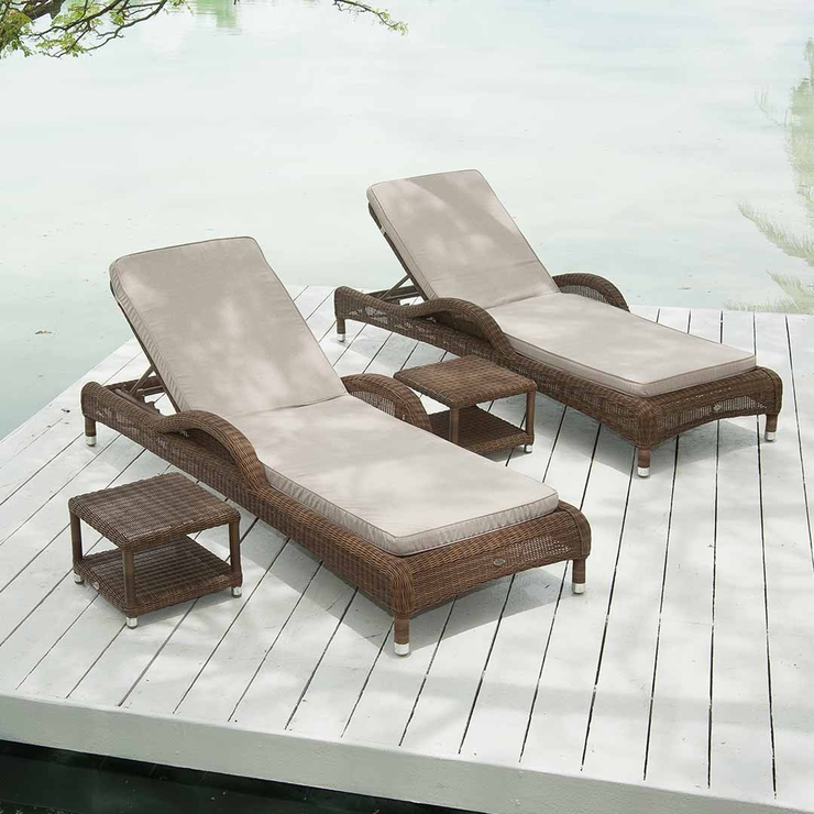 San marino adjustable sunbed by alexander rose loungers for Alexander rose colonial chaise lounge