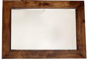 Dakota Mango Solid Wood Frame Mirror Walnut Colour Mirrors