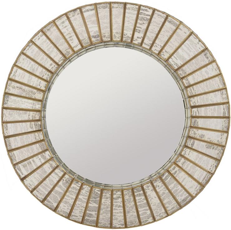 Aurora Antique Silver Gold Mercury Glass Round Mirror Mirrors