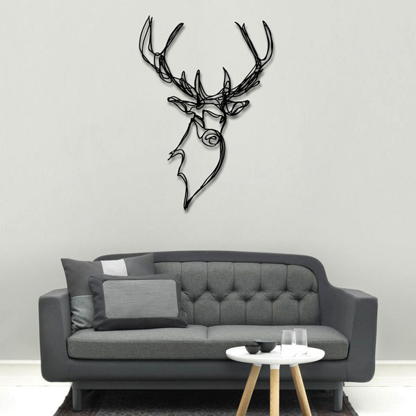 Stag Head Wooden Wall Art By Hu2 Ornaments