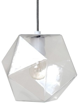 Geometric Hanging Lamp Clear Glass