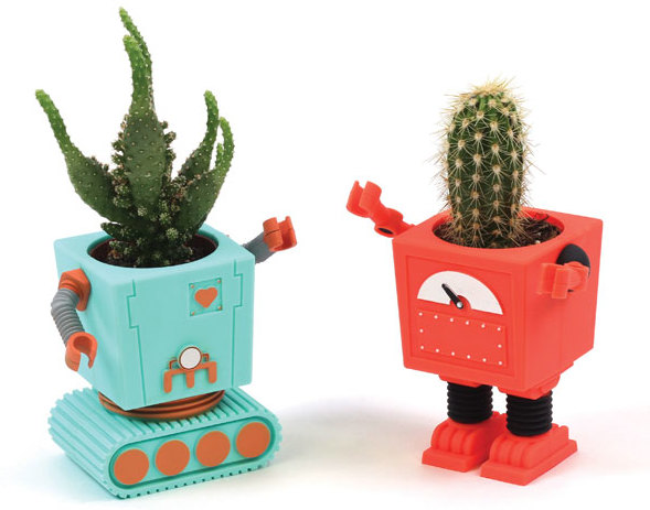 Plant Bot Funky Flower Pot Blue Baskets And Containers