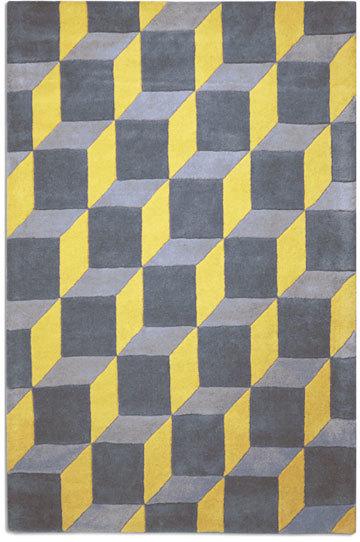 Geometric Rug Yellow By Plantation Rug Company