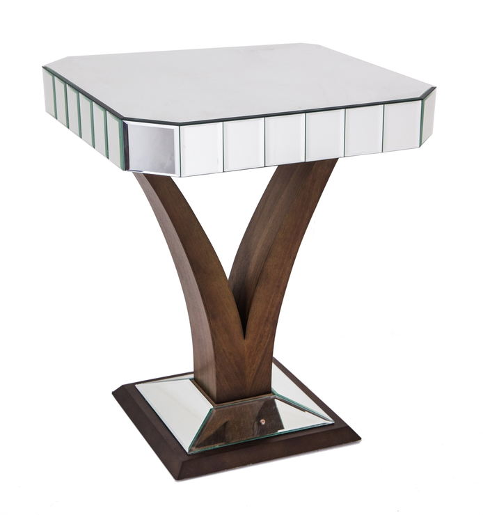 Home / Faceted Mirror Side Table