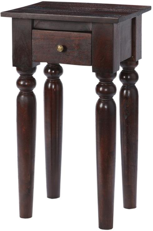 Maharani Dark Wood Telephone Table Side Tables