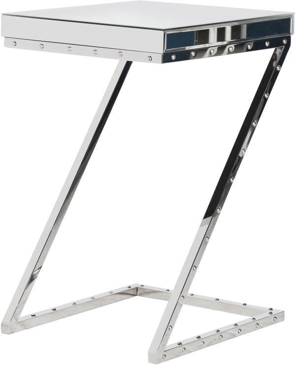 Z Leg Side Table Polished Chrome
