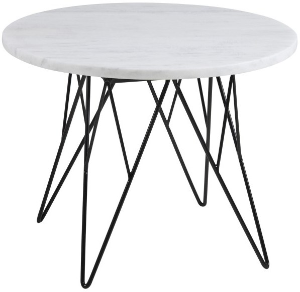 Prunus Contemporary Lamp Table White Marble Top By Actona Side Tables