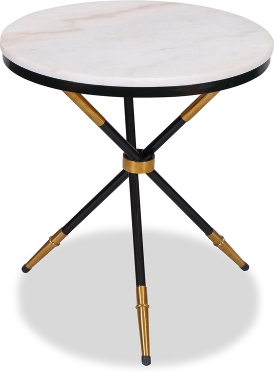 Eton Small Round Side Table Marble Top Side Tables