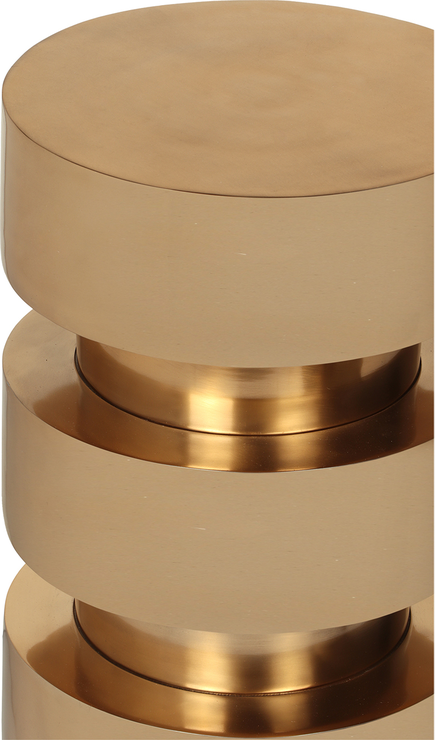 Bali Polished Brass Column Side Table Side Tables
