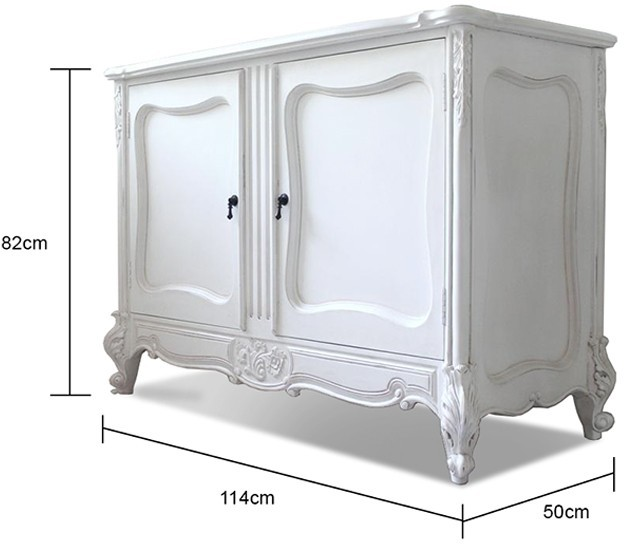 Two Door French Sideboard image 2 - Two Door French Sideboard Sideboards & Display Cabinets