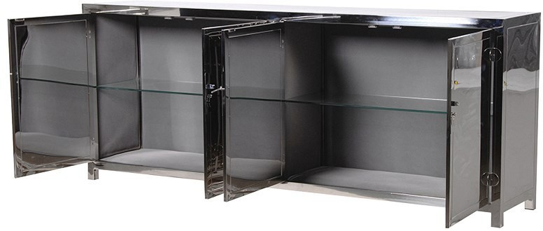 Polished Silver Chinese Sideboard High Gloss Sideboards