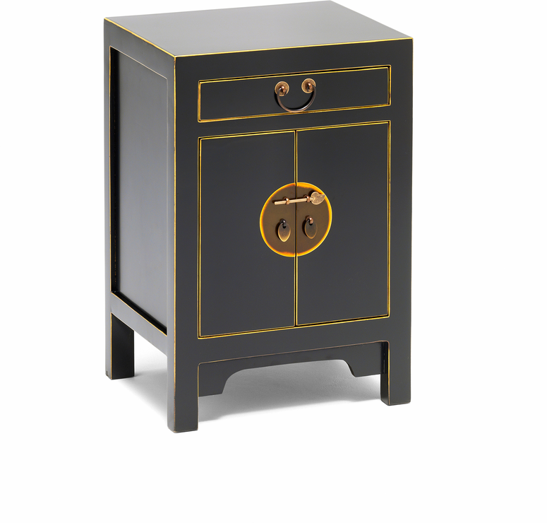 Small classic chinese cabinet black sideboards for Oriental furniture for sale