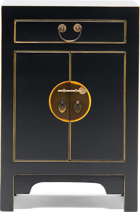 Small Classic Chinese Cabinet   Black Image 2