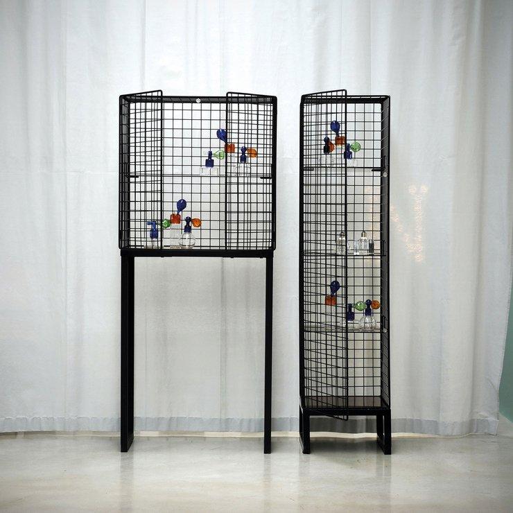 Superior Seletti Narrow Wire Mesh Cabinet Image 3
