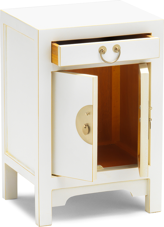 Small Classic Chinese Cabinet White Side Tables