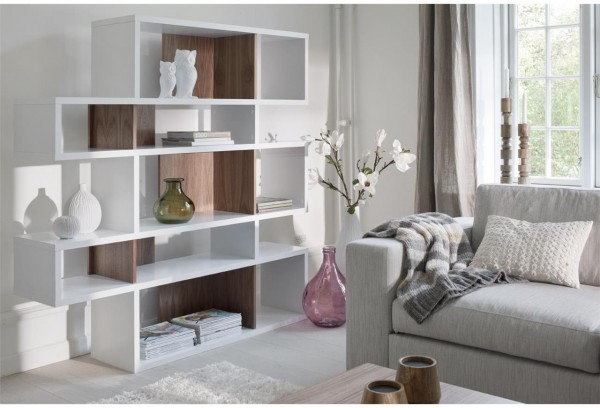 TemaHome London Contemporary Display Unit   Walnut, Black Or White
