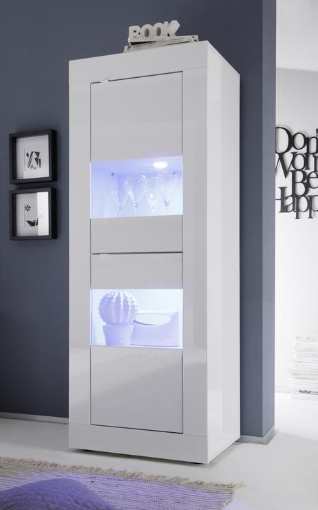 Urbino Collection Two Door Display Vitrine Gloss White