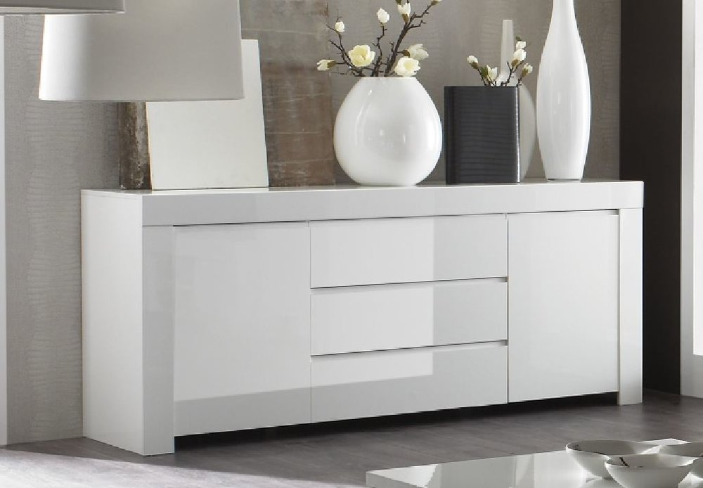 Rimini Collection Two DoorThree Drawer Sideboard White