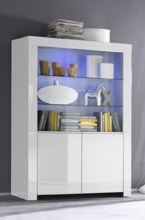 Rimini Collection Four Door Display Vitrine With Two Led