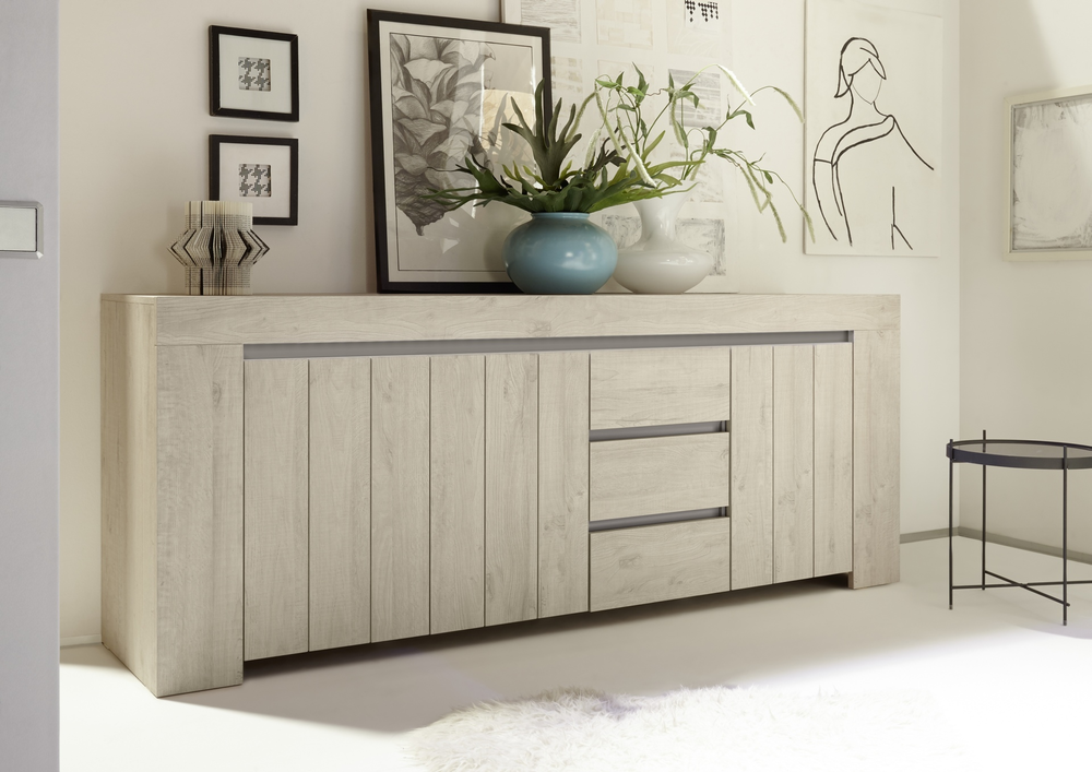 Monza Sideboard Rose Beige Finish Sideboards Amp Display