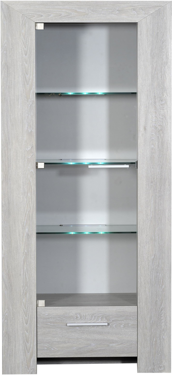 Lathi Glass Display Unit With Drawer Sideboards