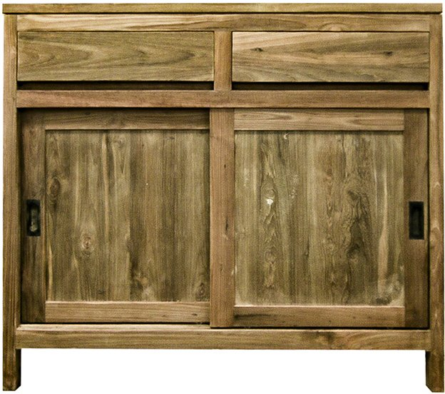 Reclaimed Wood Cabinet With Sliding Doors The Kali