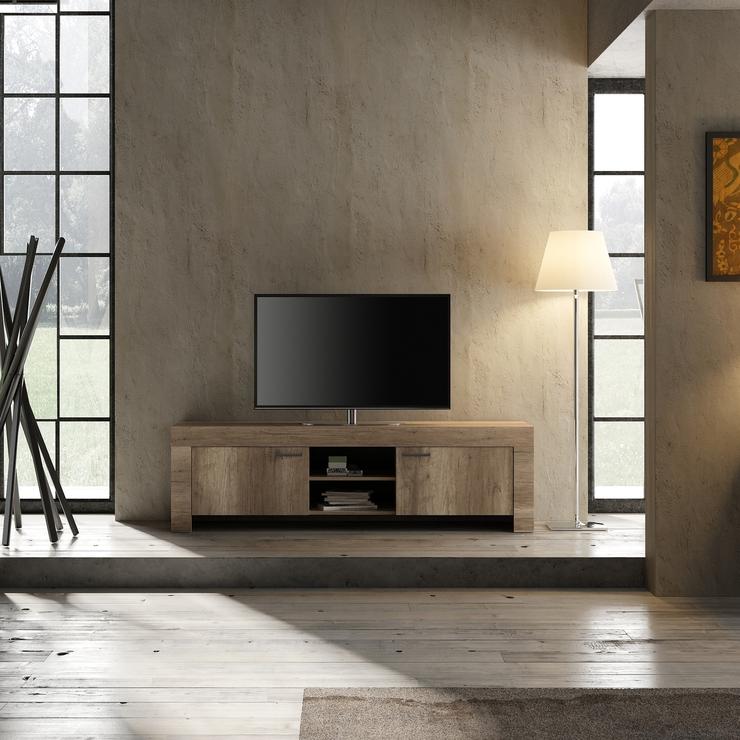 sale retailer 7a39f 6cc1f Livorno Large TV Unit - San Remo Oak Finish