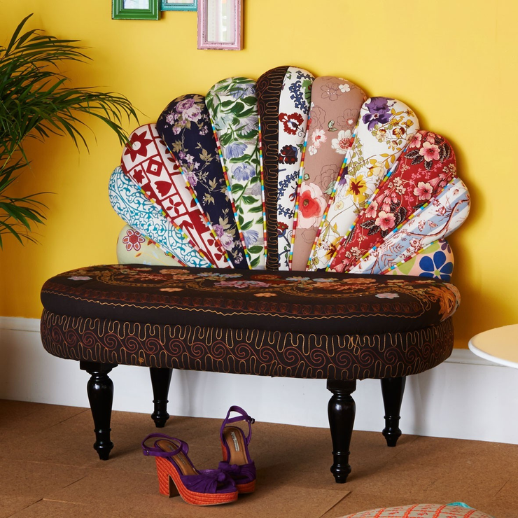 Peacock patchwork sofa by nordal sofas for Sofa patchwork