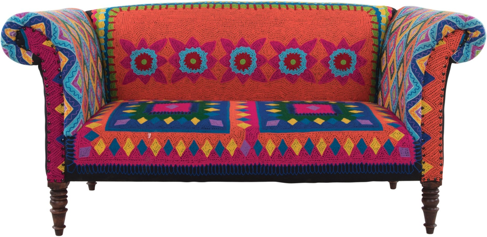 Mexican Embroidered Sofa Multicolour By Ian Snow Sofas