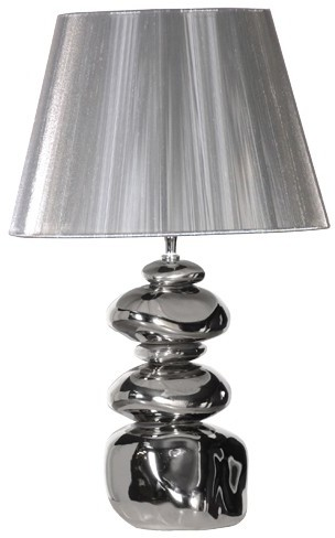 shiny silver pebble lamp