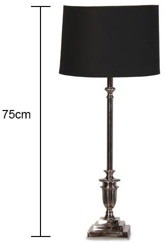 Tall Chrome Table Lamp