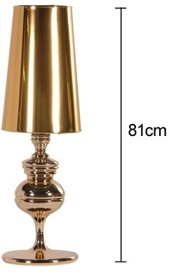 Tall Polished Table Lamp